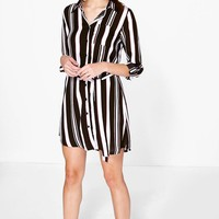 Amy Stripe Shirt Dress