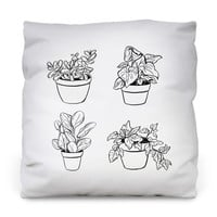 Desk Plants Throw Pillow