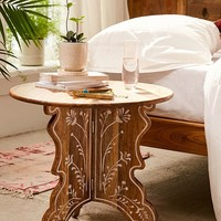 Mia Floral Side Table   Urban Outfitters