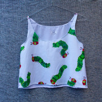 Hungry Catepillar Crop Top by ByAndie on Etsy