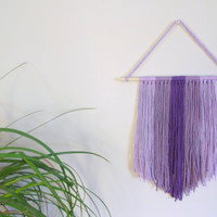Purple Wall Hanging Purple Nursery Decor Baby Girl Nursery Purple Home Decor Nursery Wall Hanging Yarn Art Textile Art Ombre Home Decor