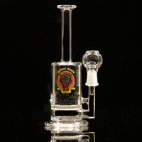 "7.5"" Dab Rig with Honeycomb Disk"