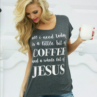 Coffee and Jesus Tee