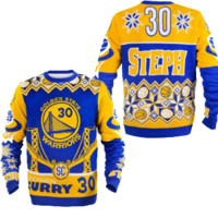 GOLDEN STATE WARRIORS STEPH CURRY OFFICIAL NBA UGLY SWEATER