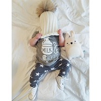 2016 summer fashion baby boy clothes cotton baby girl clothing set cartoon printed t-shirt+pants newborn infant 2pcs sets