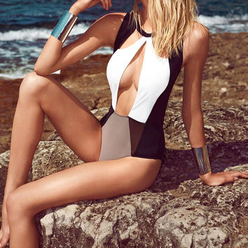 Backless Cut-Out Swimsuit