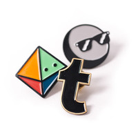 Tumblr Enamel Pins