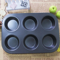 1PC Pan Muffin Cupcake Bake Cake Mould Mold Bakeware 6 Cups Dishwasher Safe Versatile Sturdy J0522
