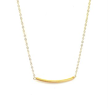 Simple gold bar necklace