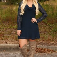 A Place In This World Dress: Navy