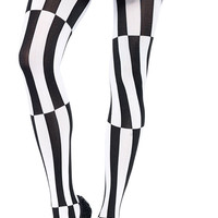Psychedelic Malposed Costume Pantyhose