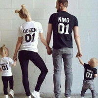 "Family Matching Tee's ""King"" ""Queen"" ""Prince"" Mom, Dad, Kids Matching T-Shirts"