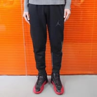 Jordan New fashion letter print couple sports leisure pants Black