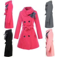 Womens Fashion Long Sleeve Slim Trench Double Breasted Coat Jacket Outwear 7E 7_S = 1956236868