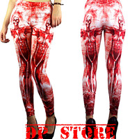 TOO FAST ANNA LEGGING ZOMBIE SKULL EMO GOTHIC PUNK JEANS ROCKABILLY PANTS GOTH