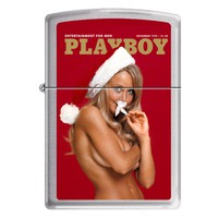 Zippo 1191 Classic Brushed Chrome Playboy Cover December 1970 Windproof Pocket Lighter