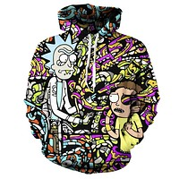Rick and Morty Trippy Hoodie