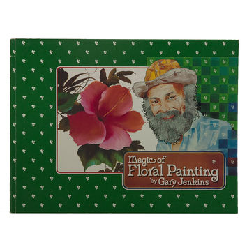 """Gary Jenkins """"Magic of Floral Painting"""" 1983 First Printing '80s TV KOCE-TV PBS SoCal"""