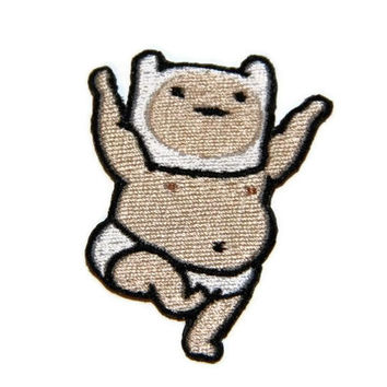 Iron on Adventure Time Buff Baby Finn embroidered patch