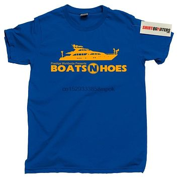 Step Brothers Prestige Worldwide Boats N and Hoes Hos Anchorman 2 Tee T Shirt|