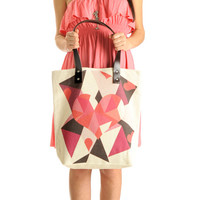 Pink Geometric Summer Shoulder Bag Tote Bag