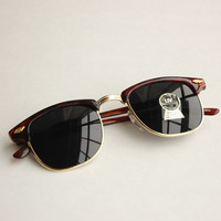 Tortoise shell vintage Clubmaster sunglasses M73a