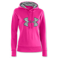 Women's Under Armour PIP Fleece Storm Big Logo Hoodie