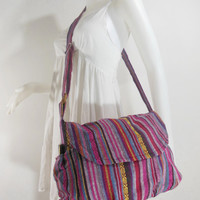 Handbag Hippie Hobo Crossbody Messenger Boho Bag Hmong Camera Purse Nepali Cotton E-HMM09