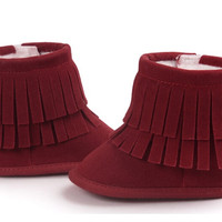 Ankle Booties-Burgundy
