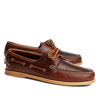 Leather Boat Shoes - Brooks Brothers