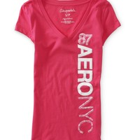 Aero NYC 87 Vertical V-Neck Graphic T - PS From Aeropostale
