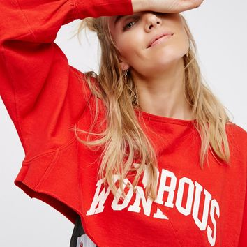 Free People Peace Up, Peace Out Cropped Pullover