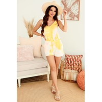Count Me Out Tie Dye Two Piece Set (Yellow/Pink)