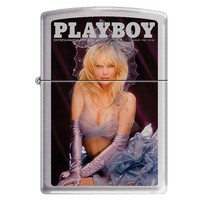 Zippo 1194 Classic Brushed Chrome Playboy Cover August 1986 Windproof Pocket Lighter