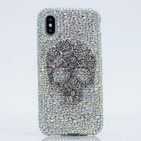Large Skull with AB Crystals 3D Design (style 782)