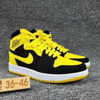 Women's and Men's NIKE Air Jordan 1 generation high basketball shoes  019