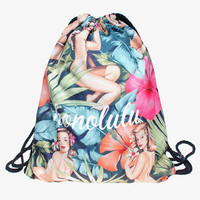 Honolulu Girl Drawstring Backpack/Bag