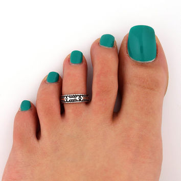 sterling silver toe  ring Dog bone design toe ring adjustable toe midi ring (T-52) also knuckle ring