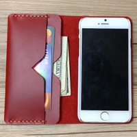 iPhone 6s Case Wax and Oil Leather iPhone 6s Plus Case Claret Red iPhone 6s Case Vintage iPhone Case Customized Phone Cover, K452