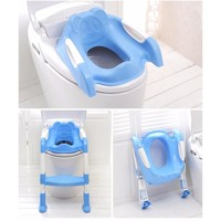 Baby Potty Training Toilet Seat With Adjustable Ladder