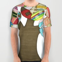 Button Tree All Over Print Shirt by Erin Brie Art