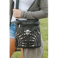 Metal Hardware & Skull Messenger