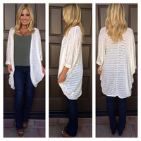 Lines In The Sand Cocoon Cardigan - IVORY