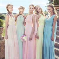 Custom Color&Size!New Chiffon Variety to wear Convertible Dress long bridesmaid dresses wedding dress Prom party dress women