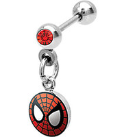 Spiderman Dangle Cartilage Earring   Body Candy Body Jewelry