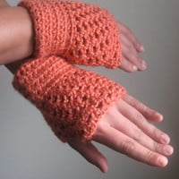 Made to order, crocheted short fingerless gloves/wrist warmers