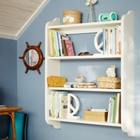 Beadboard Wall Bookcase