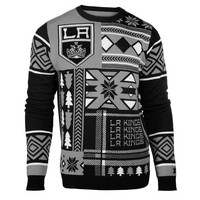 """Los Angeles Kings Official NHL Men's """"Ugly Sweater"""" by Klew"""