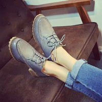 Winter England Style Vintage Round-toe Shoes [6366208196]