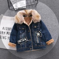 Trendy Baby Boys Denim Jacket Vintage Jeans Jackets for Boy Toddler Baby Denim Jackets  Boys Jean Jacket AT_94_13
